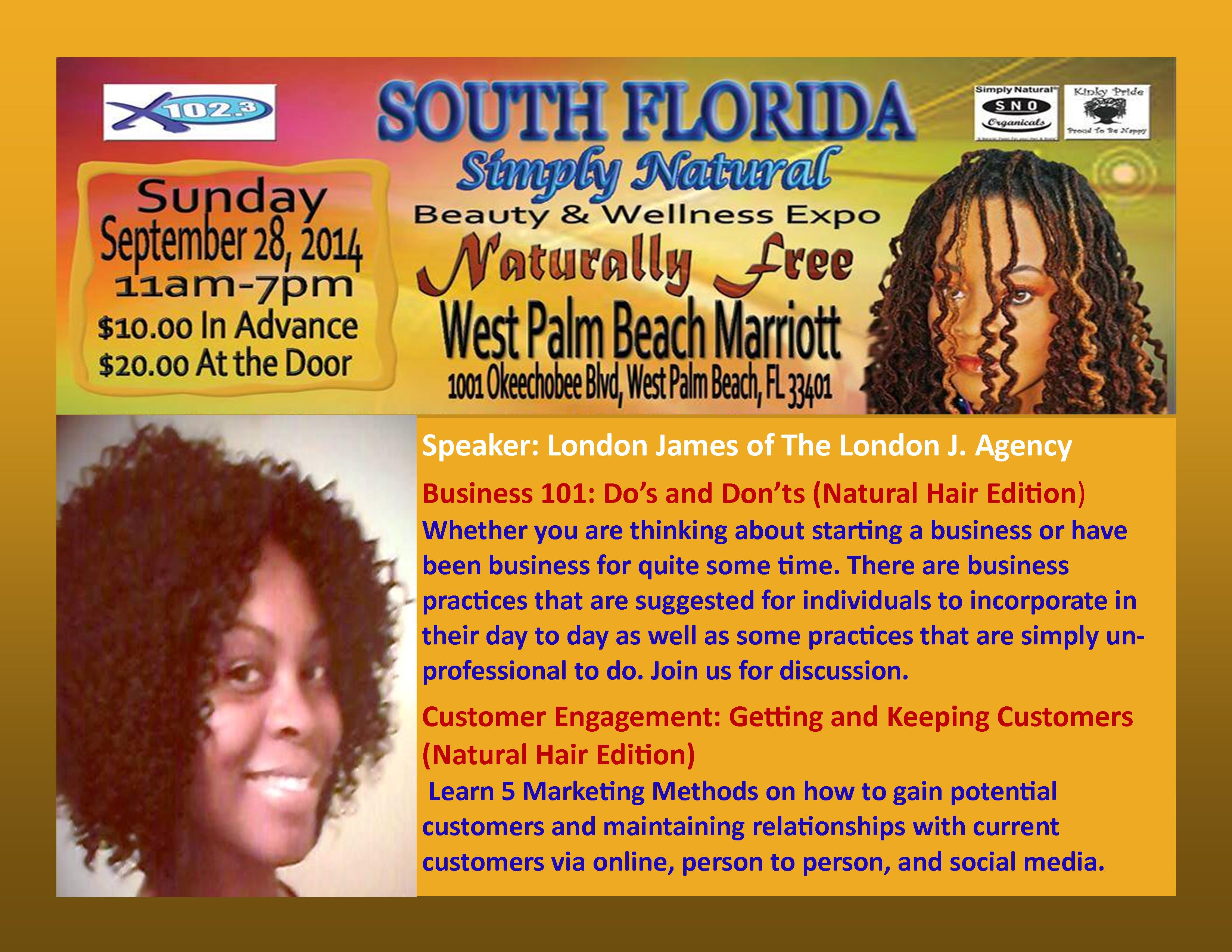 Business at Simply Natural Hair Expo SFL